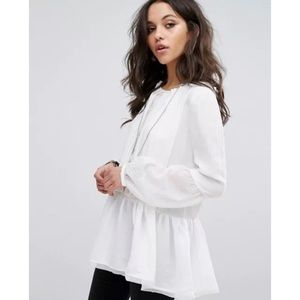 Free People Long Sleeve Peasant Blouse Sz. L